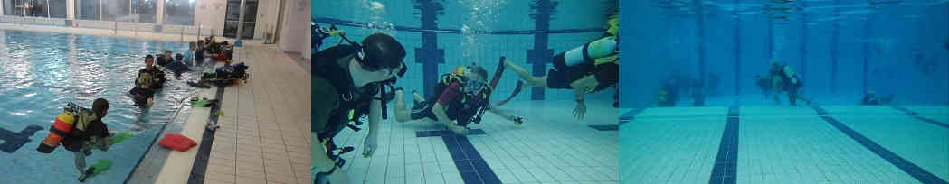 Pictures of try dive taster sessions at Lutterworth Sports Centre, Leicestershire